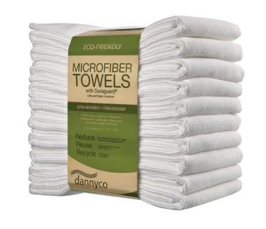 "$BF White Microfiber Towel 16x29"" 10Pkg"