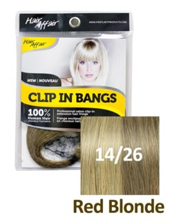 $BF HH #14/26 Red Blonde Clip On Bang EX