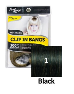 $BF HH #1 Black Clip On Bang EXTENSION