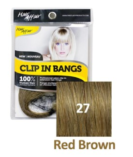 $BF HH #27 Red Brown Clip On Bang EXTENS