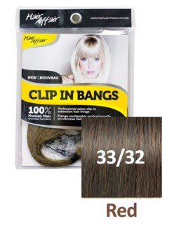 HH #33/32 Red Clip On Bang EXTENSION