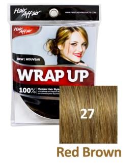 HH #27 Red Brown Wrap Up Bun EXTEN