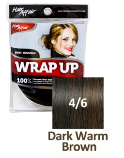 HH #4/6 Dark Warm Brown Wrap Up Bun EXTE