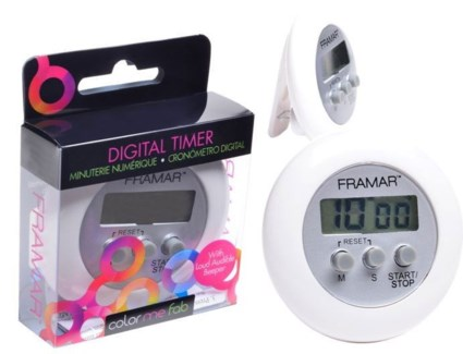 Foil It Digital Timer WHITE