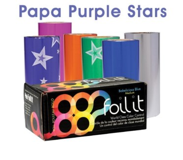 1lb Roll Papa Purple Stars Medium FOIL