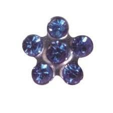 PP Sapphire Flower EARRING