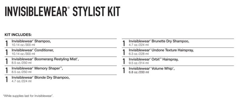 INVISIBLEWear Stylist Kit 2018 PM