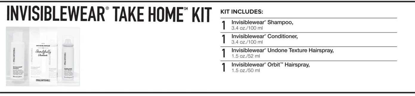 INVISIBLEWear Take Home Kit 2018 PM