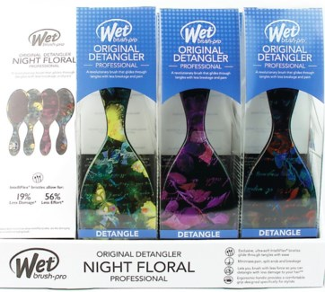 MKW 9pc Night Floral Wet Brush Display
