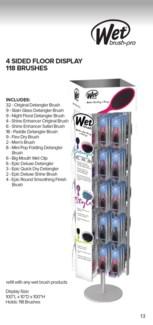 MKW 118pc Wet Brush Floor Display