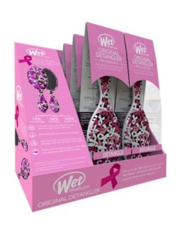 MKW 6pc BCA Pink Ribbon Wet Brush Displa