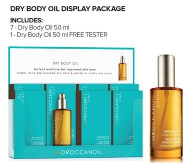 MOR Dry Body Oil Display 8pc SO18