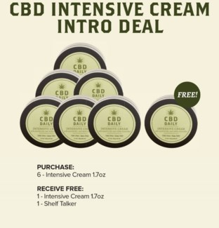 CBD 6pc Intensive Cream Display
