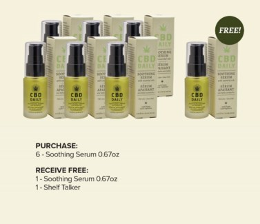 CBD 6pc Soothing Serum Display