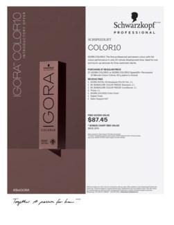 ! Igora Color10 Intro BUY25COLOR