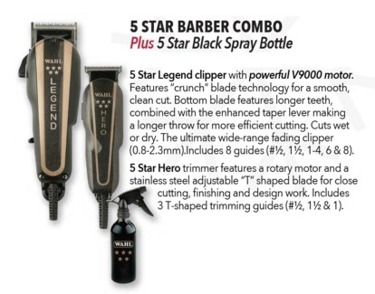 5 Star Barber Combo + Spray Bottle ND18