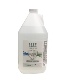 PPE GALLON ETHYL ALCOHOL 70% 06707525 128oz WIKOFF