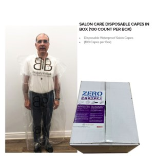 PPE Salon Care Disposable Capes in Box (100 count)