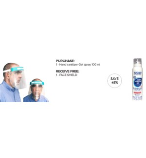 ! PPE MKW Germ Buster Hand Sanitizing Gel 100ml + FACE SHIELD