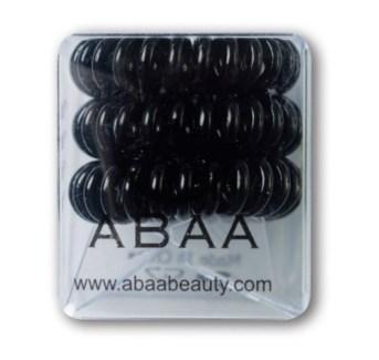 ABAA BLACK HAIR RINGS 3PK