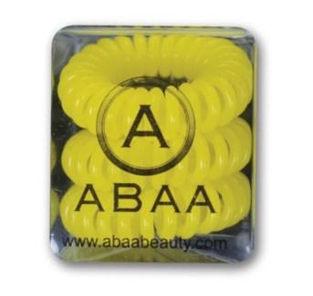 ABAA YELLOW HAIR RINGS 3PK FP
