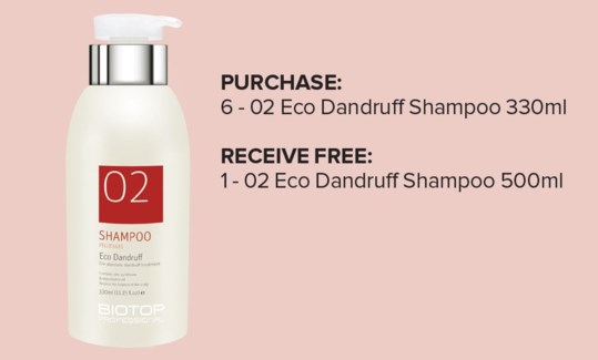! 6+1 330ml BIO 02 Eco Dandruff Shampoo MA19