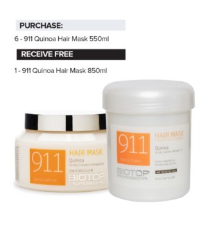 ! 6+1 550ml BIO 911 Quinoa Hair Mask Intro JA2020