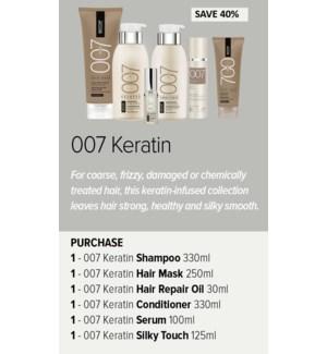 ! BIO 007 KERATIN Stylist Try Me Deal MA202