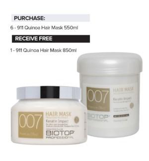 ! 6+1 BIO 007 Keratin Hair Mask Intro NOV 5-30/2020
