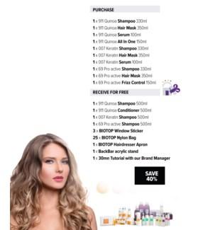 ! 1+1 330ml BIO 911 + 007 Shampoo YEARLY SUITES INTRO 2021