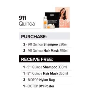 ! 3+1 330ml BIO 911 Quinoa Shampoo SO2021