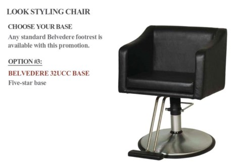 Styling Chair + Base # 32UCC