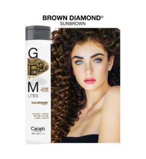 *MD 244ml Gemlites Brown Diamond Shampoo