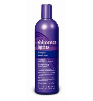 473ml Shimmer Light Blue Shampoo 16oz