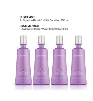 ! 3+1 250ml CP SignatureBlonde Violet Conditioner 8.5oz JA2020