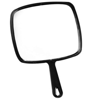 Large Hand Mirror, Black B12