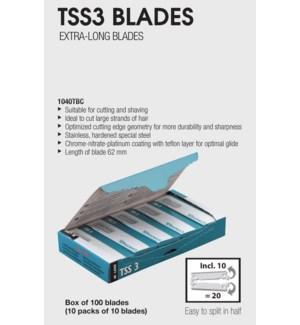 *BF TSS3 Extra Long Razor Blades 100PC