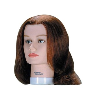 Standard Mannequin Euro Hair, Brown, Approximately 16 Inches