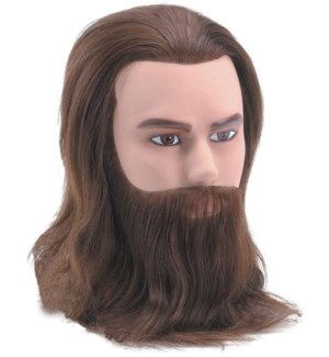Male Deluxe Mannequin Short Hair Beard & Moustache, Brown, 8 Inches BES2MALEUCC