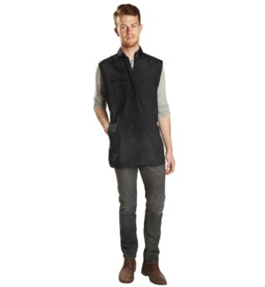 Nylon Zippered Vest With Mesh, Black BES320UCC