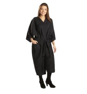 Black Nylon Kimono, One Size