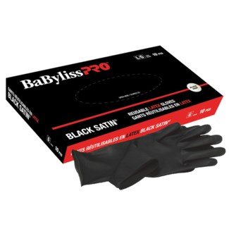 Medium Black Satin Gloves 10EA BES33710M