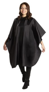 Nylon Cut Cape, Black