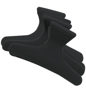 Black Plastic Jaw Clips 12/Bag