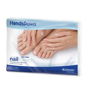 HANDDOWN Nail Care Towels 12x16 Inch, White, 50/Towels
