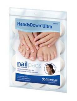 Ultra Nail and Cosmetic Pads 1.75 Inch, White, 60/Bag