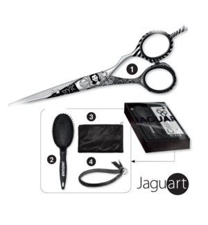 Jaguar Black Patty Shear + Brush Kit FP