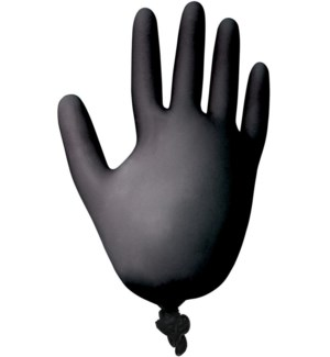GRAHAM Nitrile Black Powder and Latex Free Glove Medium 10/bag