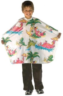 Multi Coloured All Purpose Kiddie Cape W/ Dinosaur Motif