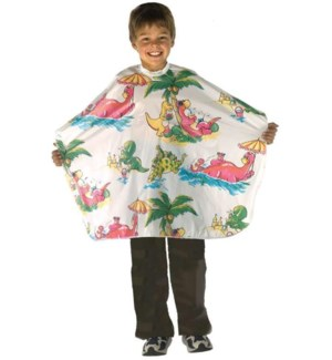 *BF Multi Coloured All Purpose Kiddie Cape W/ Dinosaur Motif